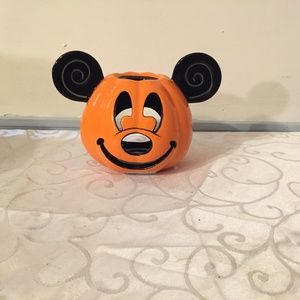 Mickey Mouse Halloween Pumpkin Candle Holder